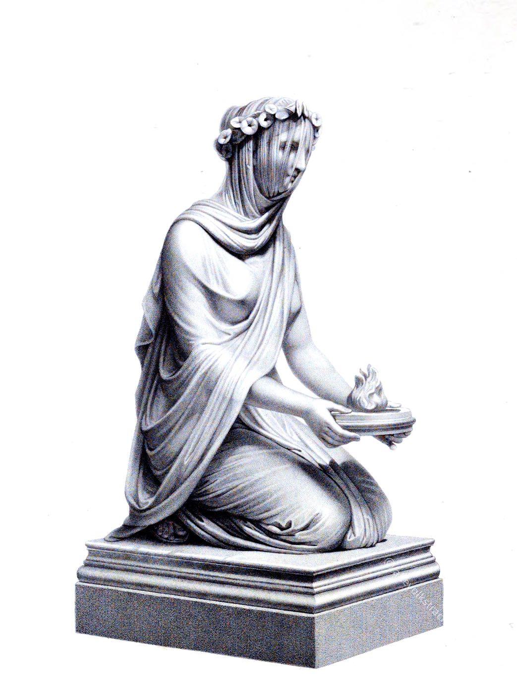 Vestal, Roman, Richard Austin Artlett, Statue,