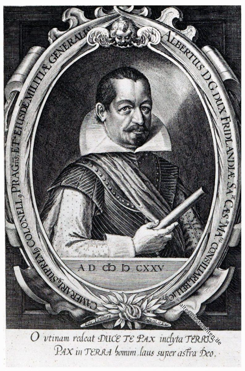Albrecht von Wallenstein. Herzog von Friedland, Generalissimus im dreissigjährigen Krieg. Porträt. Epoche des Barock