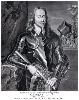 Karl I., aus dem Haus Stuart,  war Monarch über die drei Königreiche England, Schottland und Irland.
