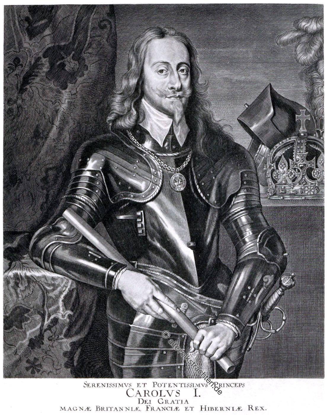 Karl I., König von England, Stuart, Barock, Rüstung, Porträt