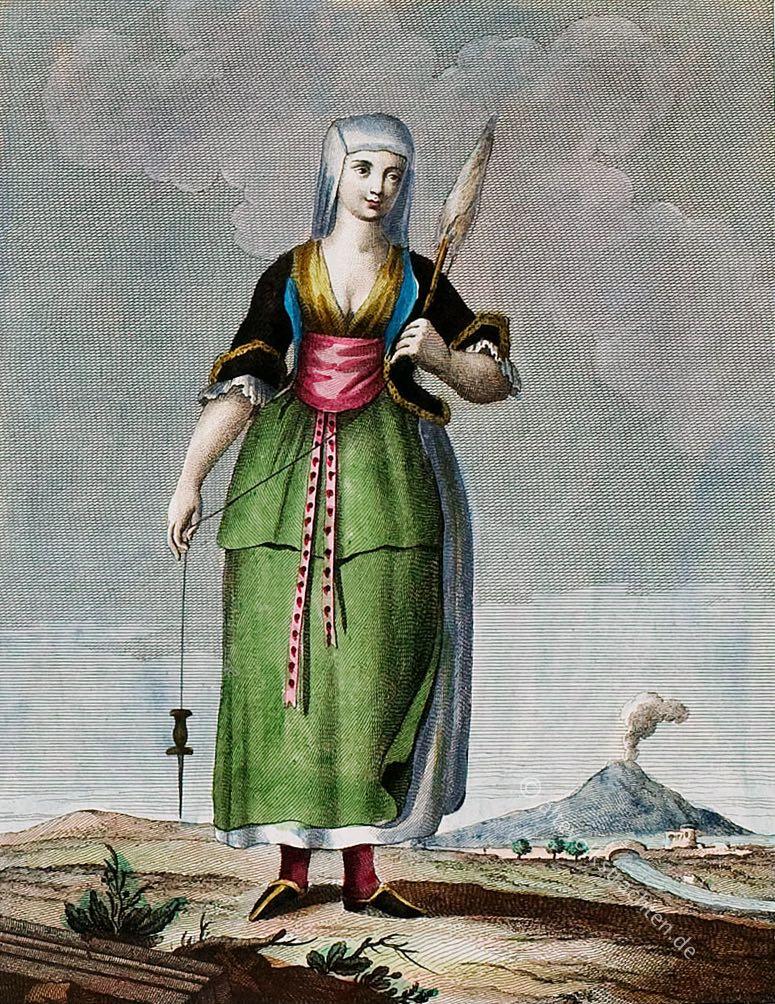 Costume tradizionale, Napoli, Chiaia, Italia, Trachten, Italien, Neapel