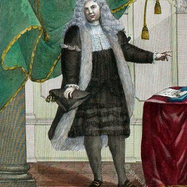 Italien 18. Jh. Confalonier der Justiz.