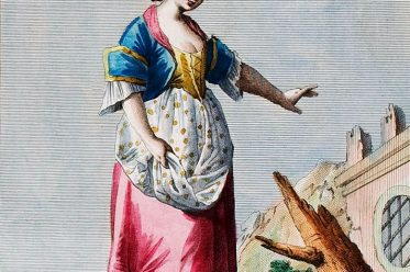 Neapel, Napoli, St. Lucia, S. Lucia, Tracht, costume tradizionale, Italia, Italien.