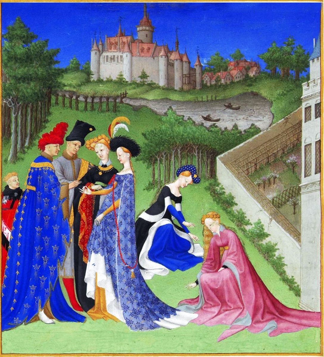 Stundenbuch, Herzog, Houppelande, Tappert, Gewandung, Mittelalter, Gotik, Kostüme,