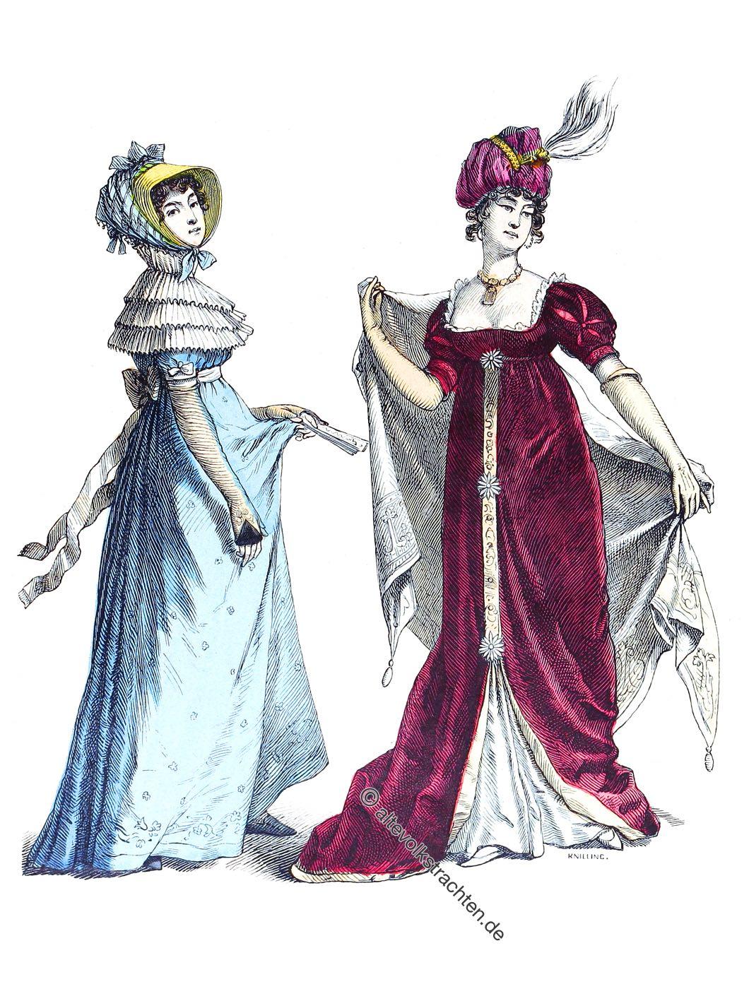 Empire, Mode, Kostüme, Drouillette, Robe, Münchener Bilderbogen,