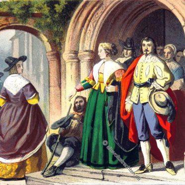 Mode zur Zeit Karls I. England Stuart Epoche.