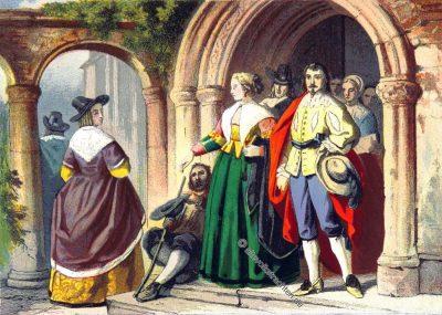 England, Kostüme, Englische Modepoche, Stuart, Stuarts, Karl II, Barock,
