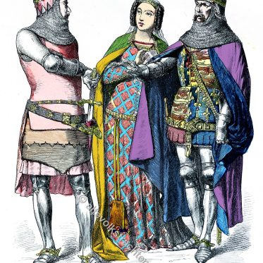 Mode in England. Ritter und Adel zwischen 1330 u. 1370.