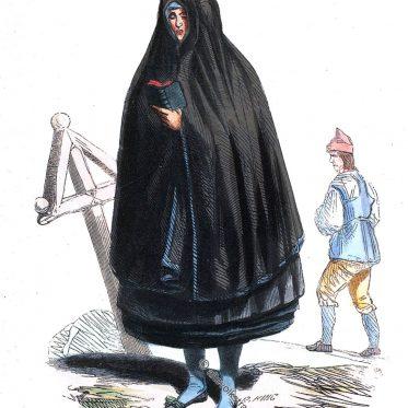 Trachten aus Torna Hällestad und Helsinki um 1840.