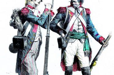 Frankreich, Republik, Revolution, Militär, Uniformen, Infanterie, Soldat, Grenadier, Münchener Bilderbogen