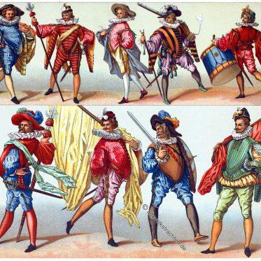 Trachten der Infanterie unter Heinrich III.