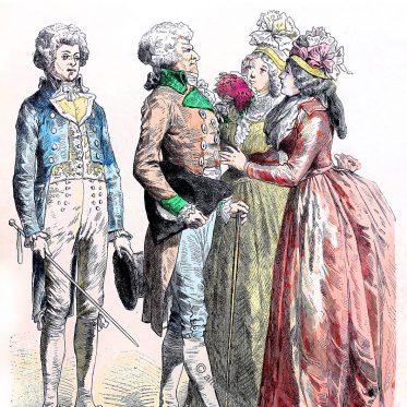 Französische Republik. Trachten von 1790 - 1792