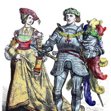 Kleidung von Fürst und Fürstin um 1520.