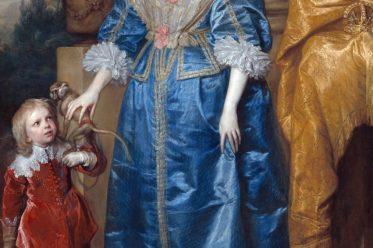 Königin, Henrietta Maria, Jeffrey Hudson, Zwerg, Barock, England, Kostüme, Anthony van Dyck