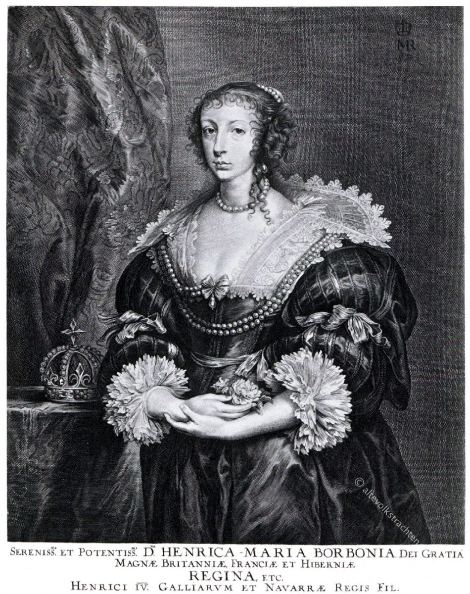 Henriette, Maria, Königin, England, Stuart, Barock, Dreissigjähriger Krieg, Portrait
