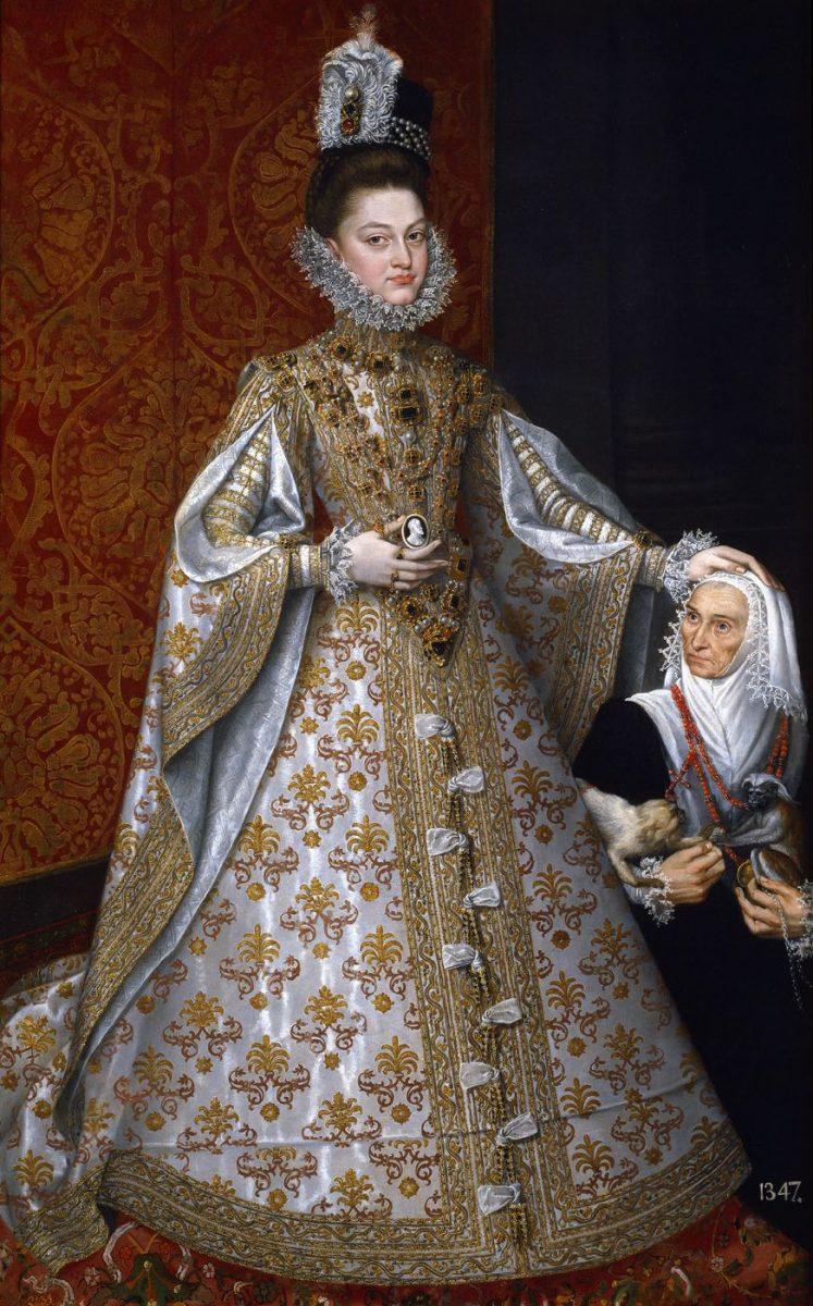 Infantin Isabel Clara Eugenia mit Magdalena Ruiz um 1585