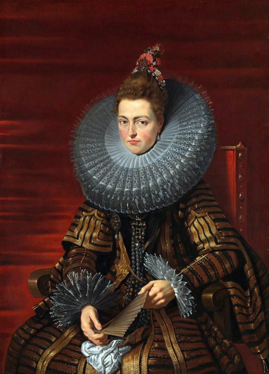 Porträt der Isabella Clara Eugenia. Regentin der Niederlande etwa 1615 - Atelier/Werkstatt von Peter Paul Rubens