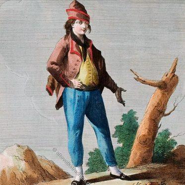 Mann in der Tracht von Ischia um 1780.