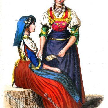 Trachten aus Frosolone in den Abruzzen, Italien.