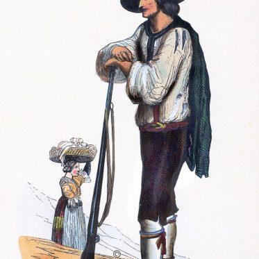Jäger aus dem Zillertal, Tirol.
