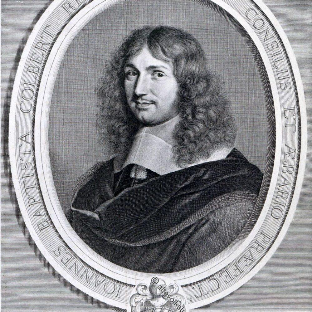 Kleidung des Adels unter Ludwig XIV. von 1646 bis 1670.