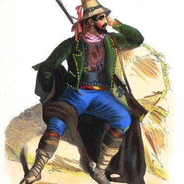 Kalabrien. Tracht eines Mannes. Süditalien um 1840.