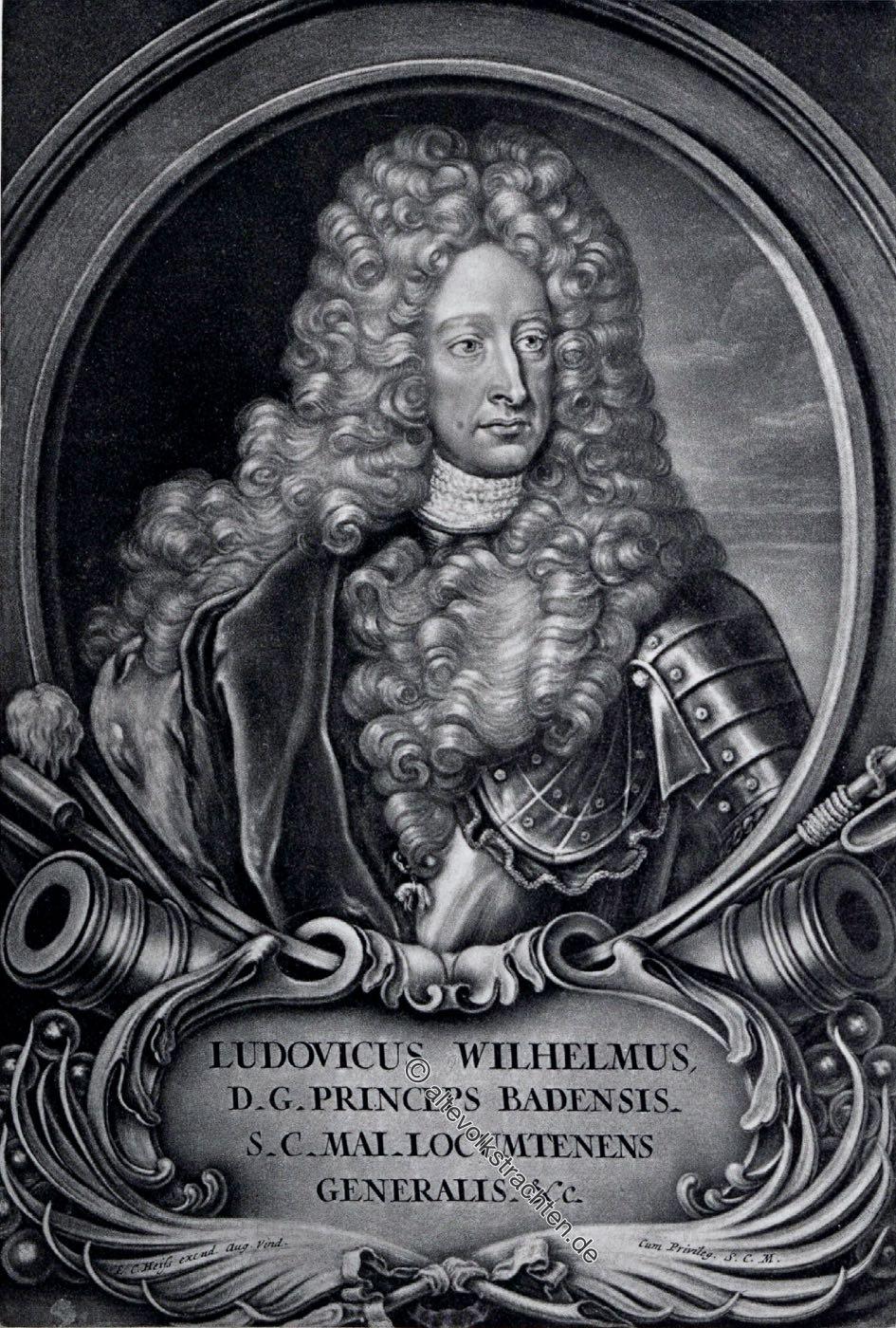 Ludwig Wilhelm, Markgraf von Baden, Türkenlouis, Portrait, Türkenlouis, Feldherr, General, Deutschland, Barock, Dreissigjähriger Krieg