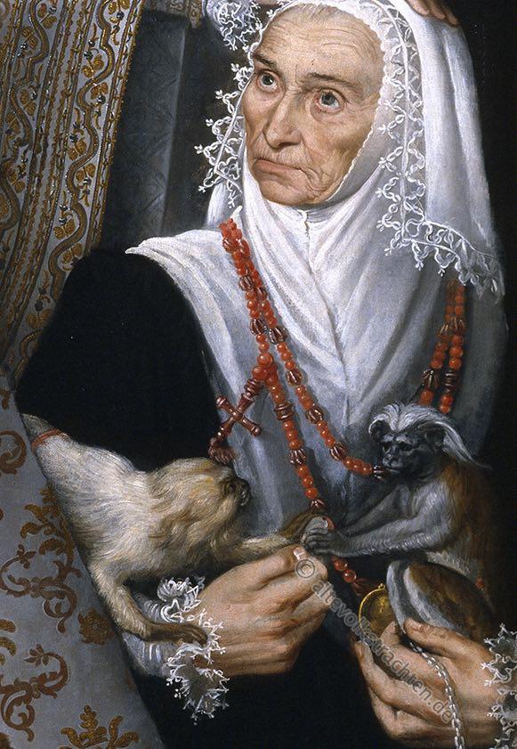 Magdalena Ruiz. Detail des Bildes der Infantin Isabel Clara Eugenia von Alonso Sánchez Coello.