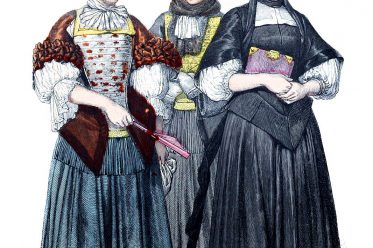Münchener Bilderbogen, Mode, Barock, Strassburg, Kostüme, Trauerkleidung, Winterkleidung