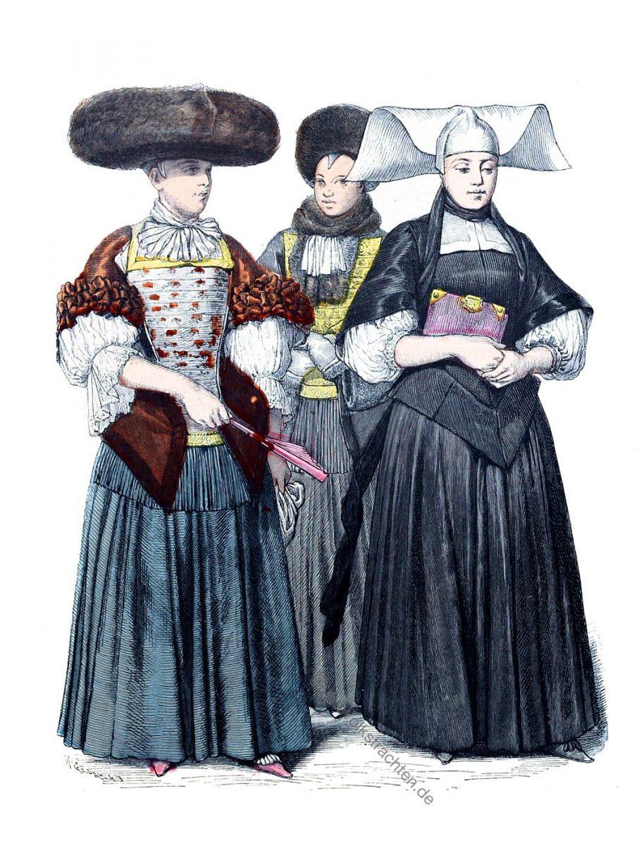 Münchener Bilderbogen, Mode des Barock in Strassburg. Zur Geschichte der Kostüme. Trauerkleidung, Winterhabit.