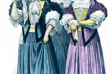 Münchener Bilderbogen, Mode, Barock, Strassburg, Kostüme, Jungfrauen, Hochzeiterin