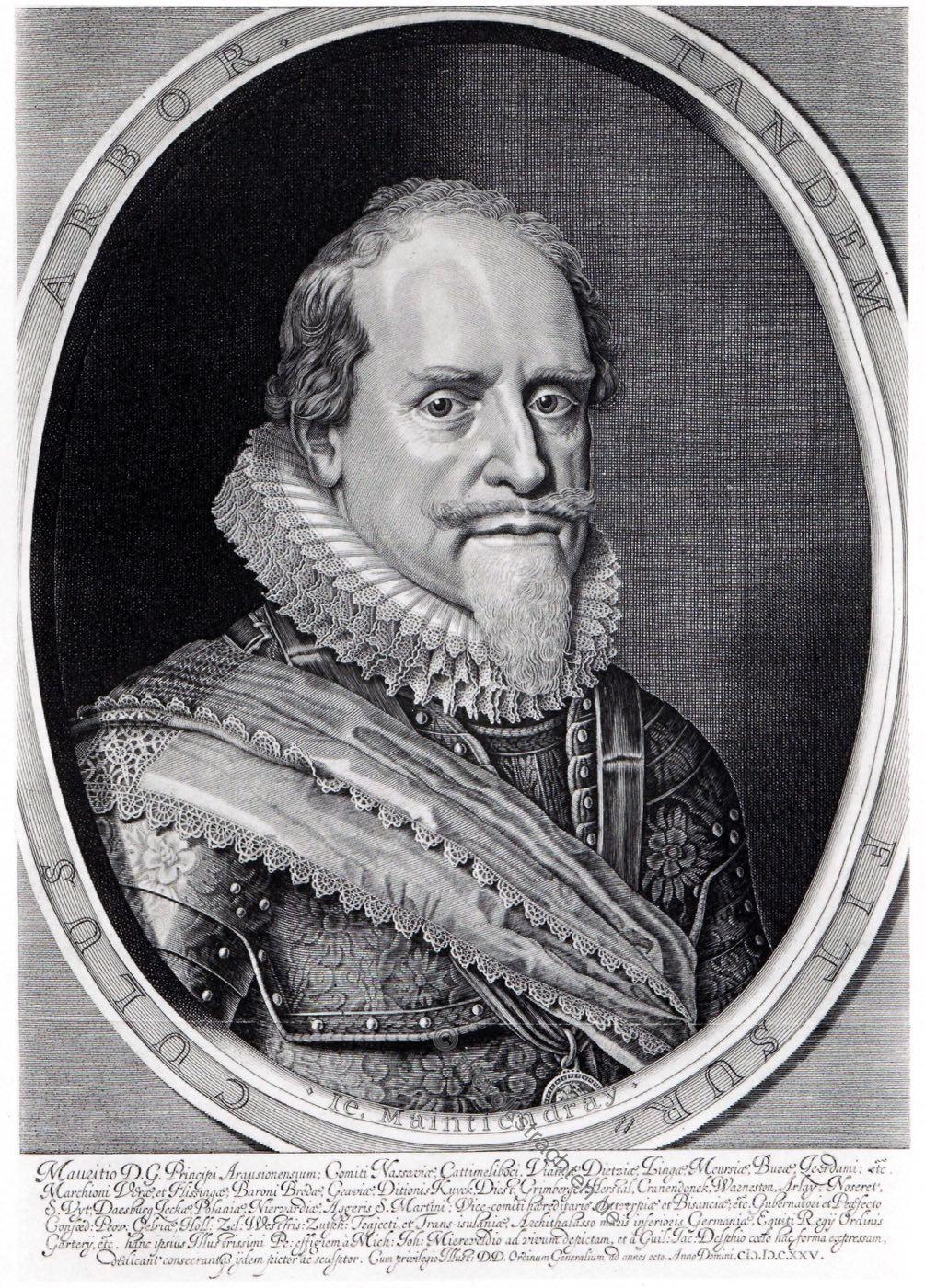Moritz, Prinz von Oranien, Statthalter der Niederlande, Barock, Soldat