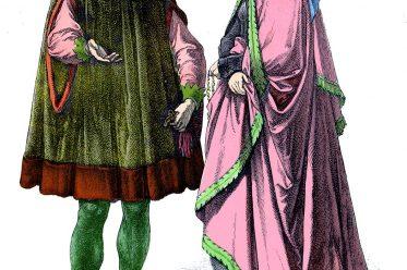 Münchener Bilderbogen, Patrizier, Mittelalter, Kleidung, Mode, Gewandung