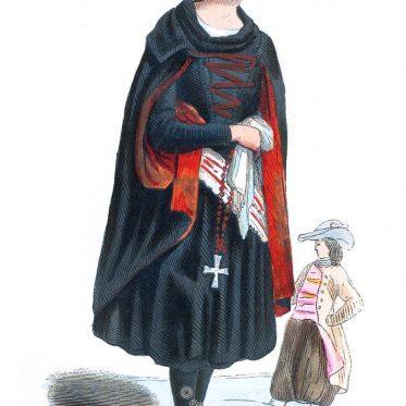 Frau aus der Umgebung von Prag um 1840.