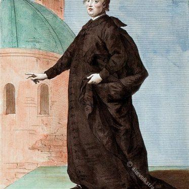 Römisch-katholischer Priester im langen Talar.