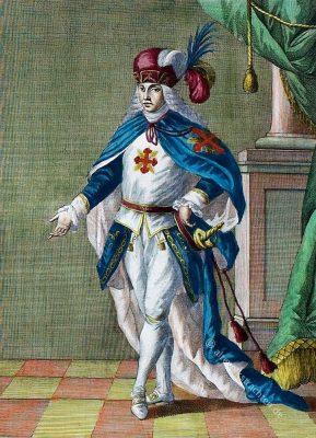 Ritter des Konstantinischen Ordens im 18. Jh. Cavaliere dell'Ordine Costantiniano di Napoli. Chevalier de l'Ordre Constantinien de Naples.