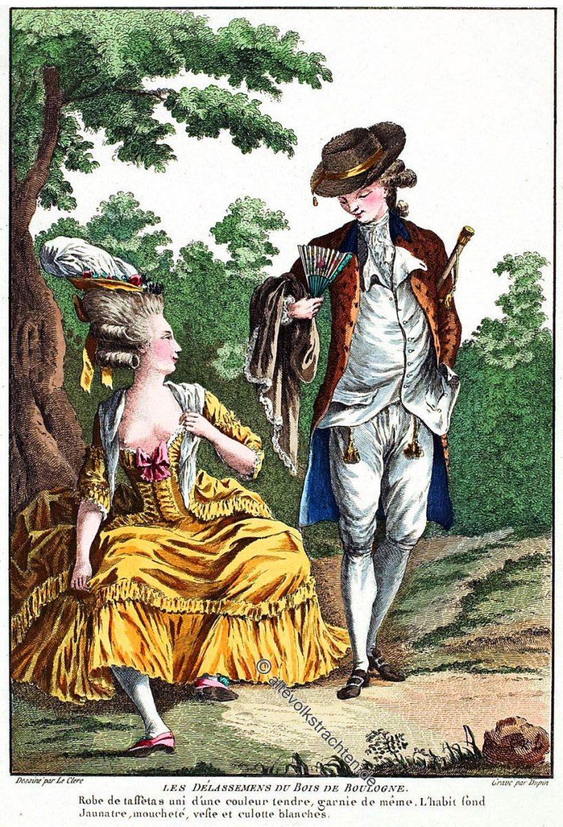 ABBÉ GALANT. Les délassemens du bois de Boulogne. Rokoko Mode 1787. Galerie des modes et costumes français 1778-1787.