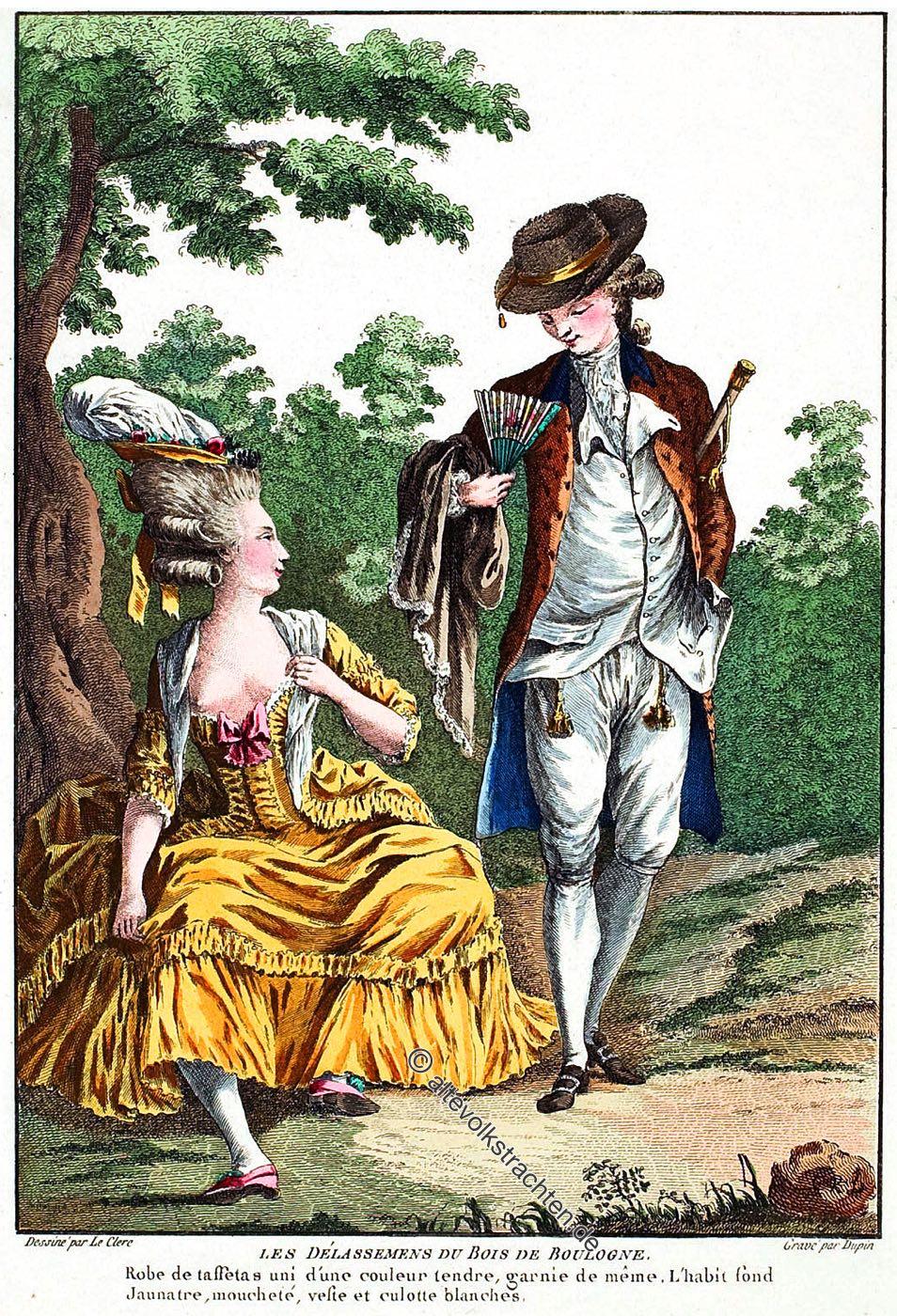 Rokoko, Mode, Frankreich, Kostüme, Bekleidung