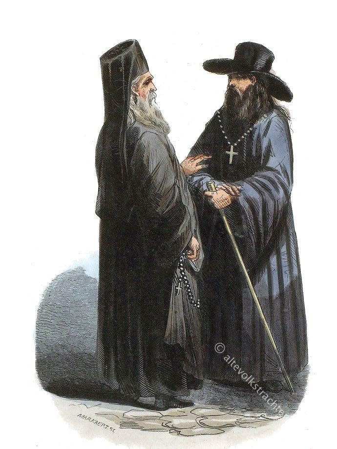 Priester, Mönch, Russland, Orthodox, Prêtre, Moine, Russes, priest, monk, Kostüm, Trachten, Auguste Wahlen