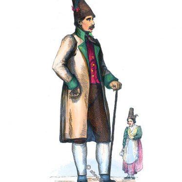 Mann und Frau aus Schliersee, Oberbayern 1840.