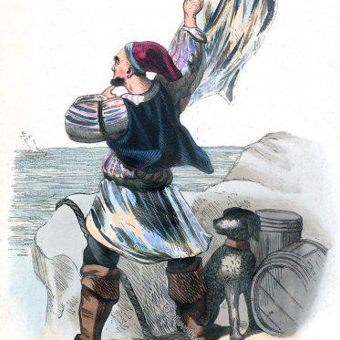 Schmuggler der Bretagne um 1840.