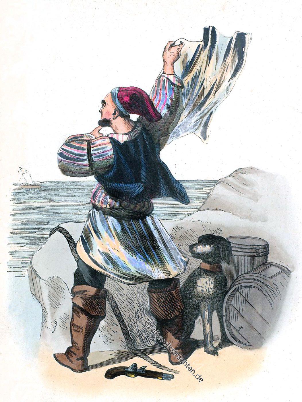 Smogleur, Smuggler, Grand Bretagne, Schmuggler, Tracht, Kostüm, Kleidung, Auguste Wahlen