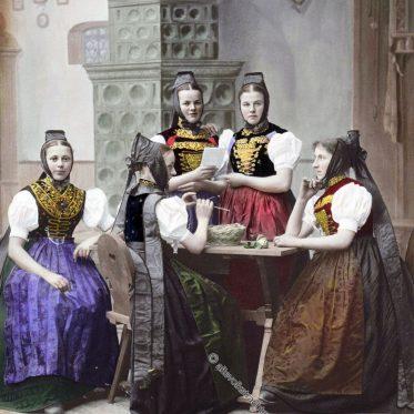 Schwarzwälderinnen aus dem Amt Neustadt, 1896.