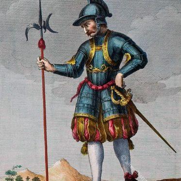 Soldat der Schweizer Garde des Vatikans im 18. Jh.