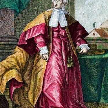 Römischer Senator in zeremonieller Kleidung, 18. Jh.