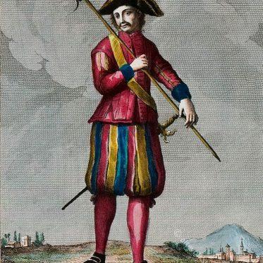 Schweizer Soldat, Leibwächter, Italien, 18. Jh.