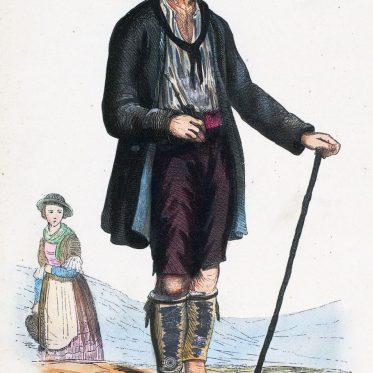 Trachten aus dem Tuxertal um 1840