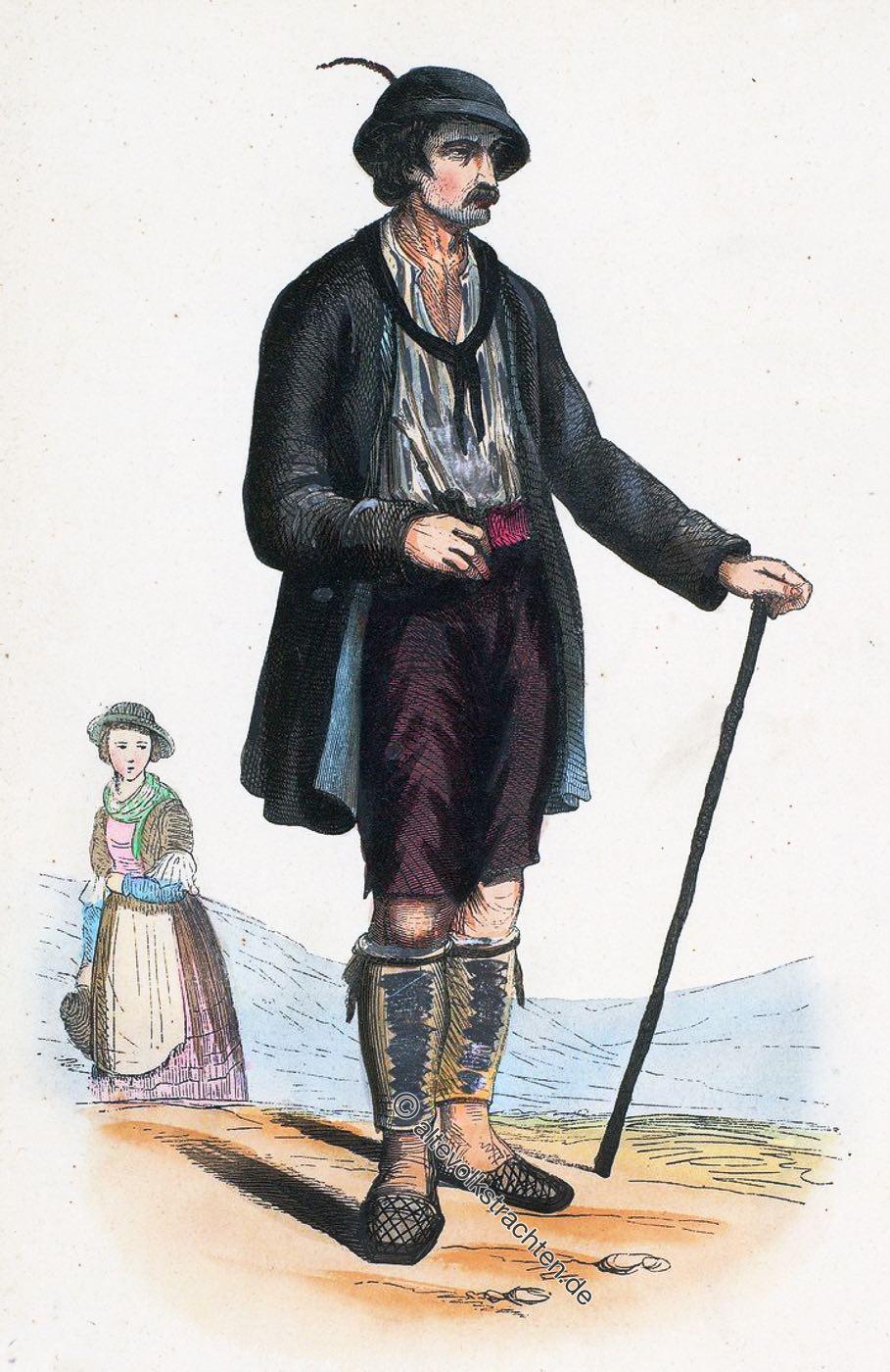 Trachten, Volkstrachten, Tuxertal, Tirol, Vallée, Dux, Tyrol, Österreich