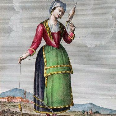 Frau von Torre del Greco bei Neapel.