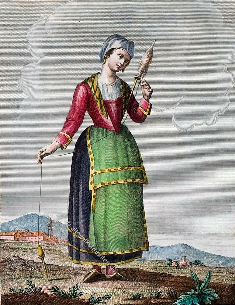 Torre del Greco, Napoli, Neapel, Italia, Italy, Trachten, Volkstrachten, Costume